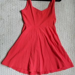 Express Red/Orange Skater Dress, Size M